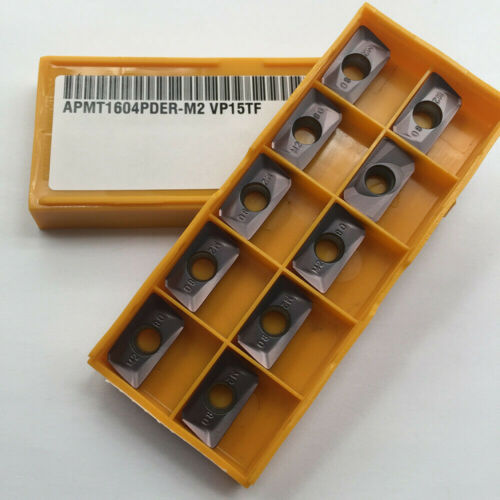 10pcs APMT1604PDER-M2 VP15TF Indexable Carbide inserts APKT1604 milling inserts