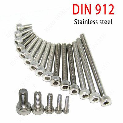 M5 M6 304 Stainless Steel Hex Socket Cap Head Screw Bolt Din912