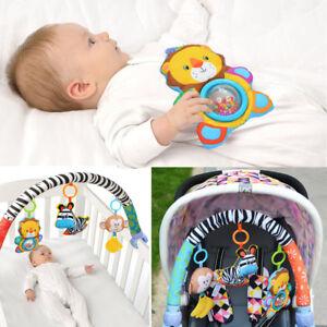 Baby Travel Play Arch Stroller/Crib Pram Activity Toy Rattle/Squeak/Teethers
