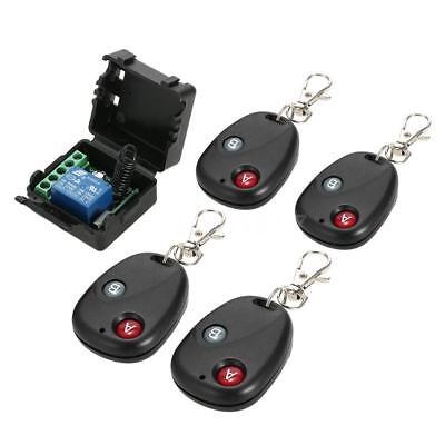 Smart 433Mhz DC 12V 1CH Wireless Remote Switch Relay Receiver Transmitter W4D2