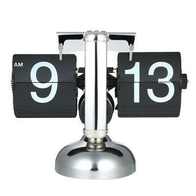 Flip Digital Quartz Alarm Clock Time Display Timer Retro Vintage Table Clock UK