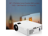 BRAND NEW GP 9 Portable Home Theater 2000-LUMENS, Multimedia HD LCD Projector