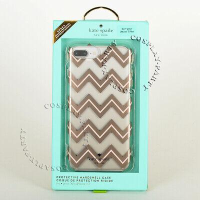 Kate Spade Clear w/Metallic Blush Chevron Case For iPhone 6 Plus iPhone 6s Plus