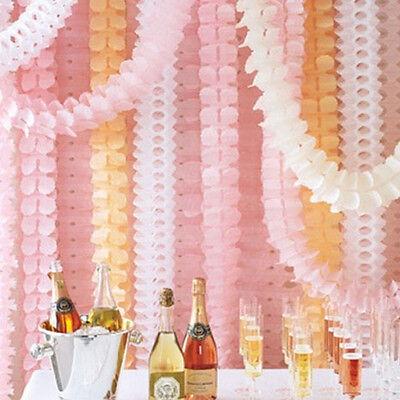 3M Paper Garland String Bunting Banner Wedding Party Baby Shower Hanging Decor - Wedding Shower Decor