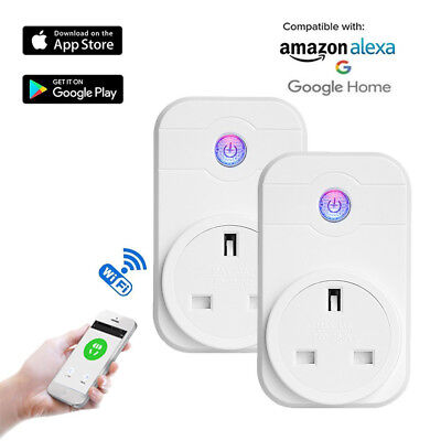 WiFi Wireless Smart Switch Socket Outlet Home Timer Control Power ON/OFF UK Plug