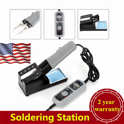 938d Portable Hot Tweezers Mini Soldering Station 110v 120w Led Display Usa