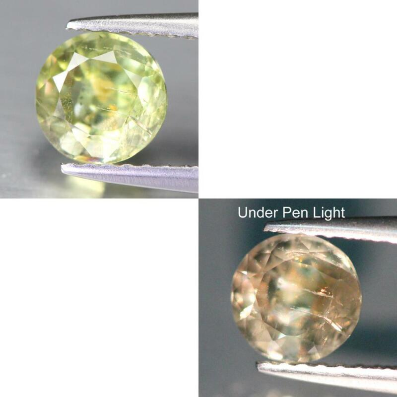 Certificate Include 0.95Cts Natural Color Change Diaspore Round Loose Gemstone