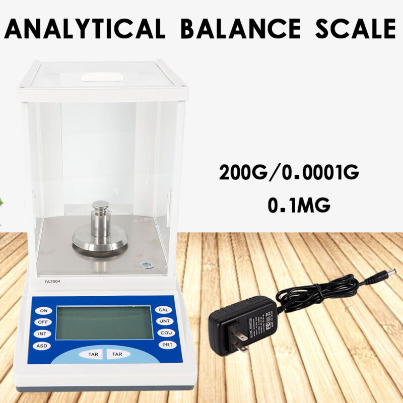 200x0.0001g Analytical Balance Electronic Digital Lab Scale Precision 110V SALE