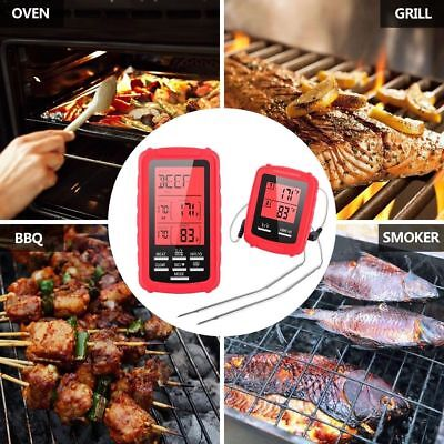 Meat Thermometer BBQ Tools Cooking Thermometers Wireless Remote Digital RED