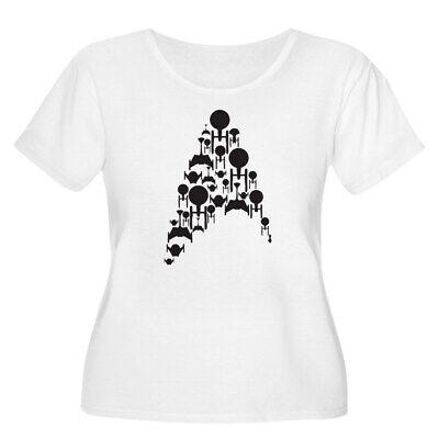 CafePress Star Trek Ships Plus Size T Shirt Scoop Neck Tee (2022782555) (Plus Size Star Trek Costumes)