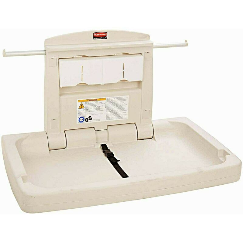 Rubbermaid Commercial Horizontal Baby Changing Station, 33.25-Inch Length x 21.5
