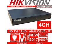HiWatch By HIKVISION 4 CH DVR 1080P Recorder HYBRID HD TVI ANALOGUE TURBO HIWATCH 204G-F1-N