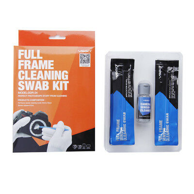 VSGO Full Frame DSLR Camera Sensor CCD/CMOS Cleaning Kit 12 Swabs + 0.5oz Fluid