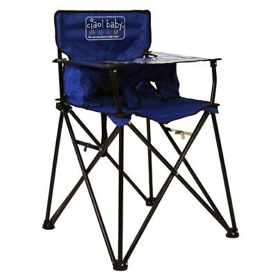 Baby Portable High Chair Seat CIAO! BABY Folding Lightweight Camping Outdoor