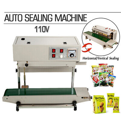 Usa 110v Continuous Auto Sealing Machine Band Sealer Plastic Bag Film Automatic
