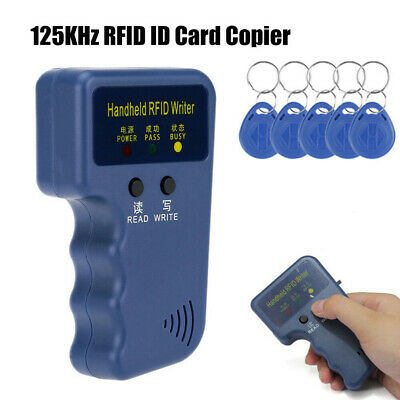 125KHz Handheld RFID ID Card Copier Key Reader Writer Duplicator Cloner + Keys