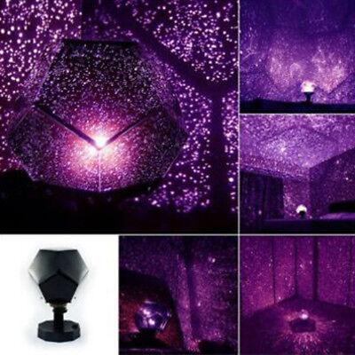 360 Rotation Star Starry Kid Room Night Light Rotating Star Sky Projector Lamp