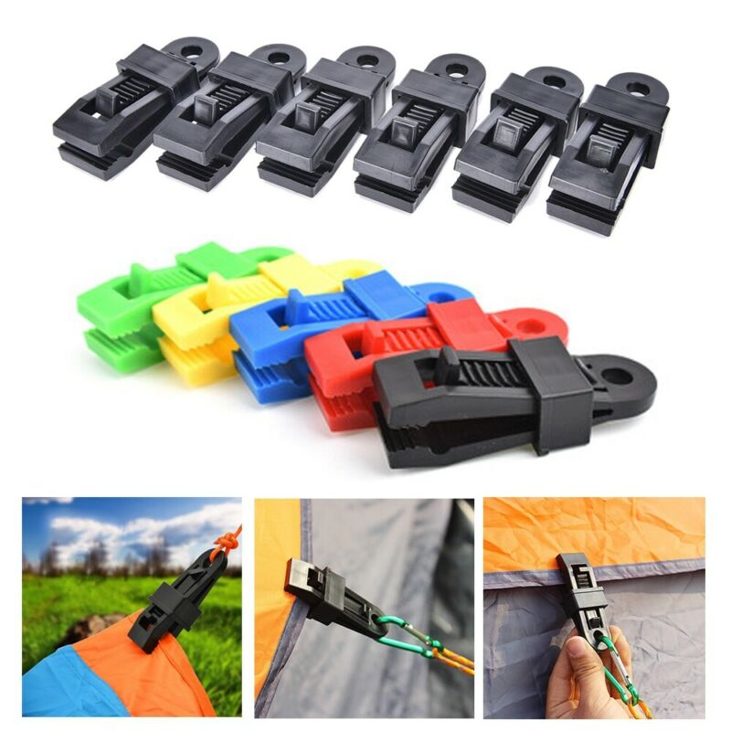 Large Tent Awning Canopy Clamp Plastic Tarp Clip Outdoor Cam