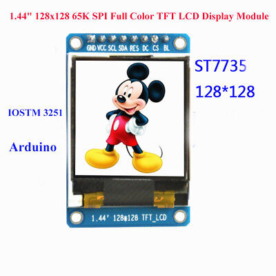 1.44 128x128 65k Spi Full Color Tft Lcd Display Module St7735 Oled For Arduino