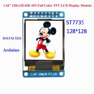 1.44 128x128 65k Spi Full Color Tft Lcd Display Module St7735 Oled For Arduino
