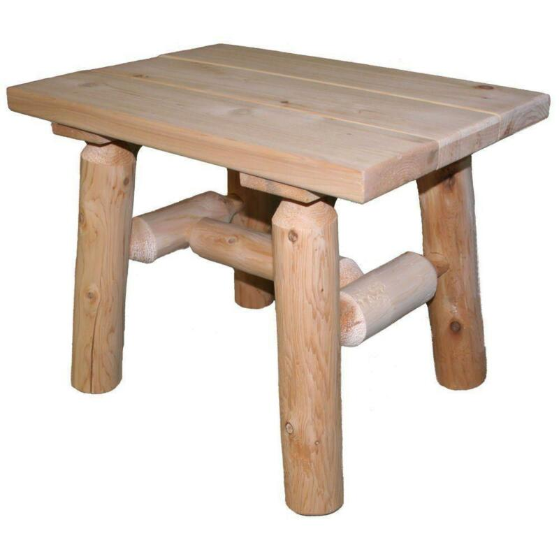 Log Side Table ~ Log end table ebay