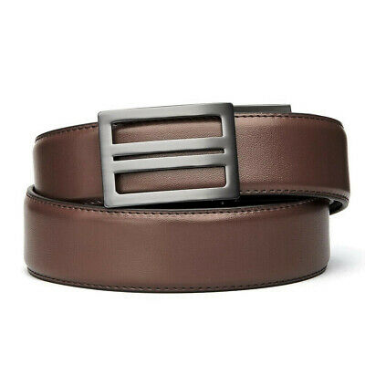 """KORE Essentials X1 Gunmetal Brown Leather Micro Adjust Gun Belt Size 24""""-44"""""""