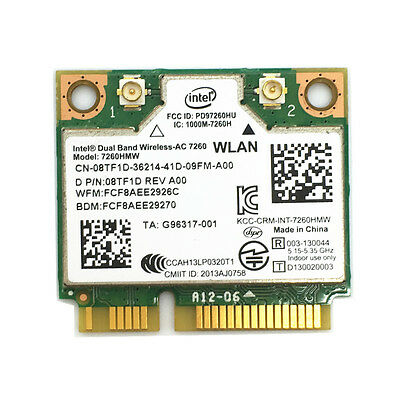 Dell Latitude E7240 WIFI Intel DualBand Wireless-AC 7260 8TF1D 7260HMW WLAN Card