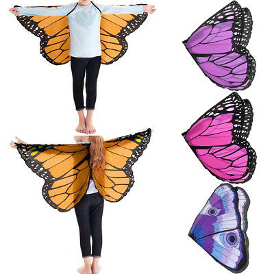 Children Kids Girls Fashion Chiffon Pashmina Butterfly Shape Costume Accessories