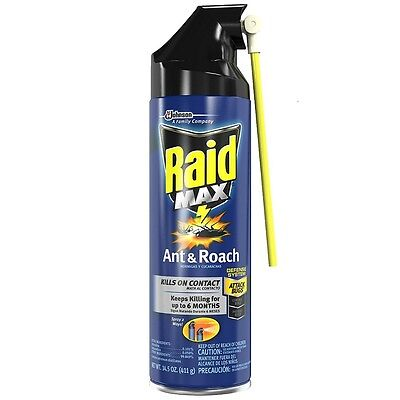 (Raid Max Ant - Roach Aerosol Spray 14.50 oz (Pack of 3))