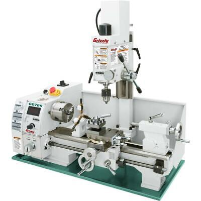 Grizzly G0769 8 X 16 Variable-speed Lathe With Milling Head
