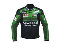 New Kawasaki custom made motorbike racing leather jackets all sizes available
