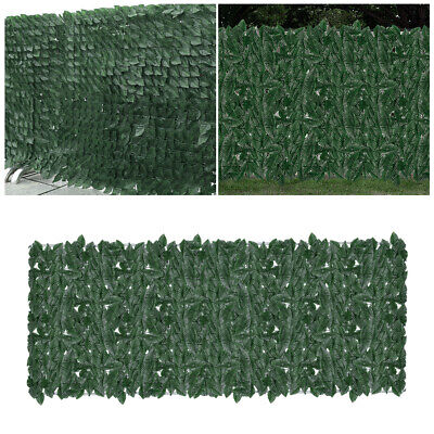 """118"""" x 39"""" Artificial Ivy Privacy Fence Screen Garden Hedges Faux Ivy Vine Panel"""