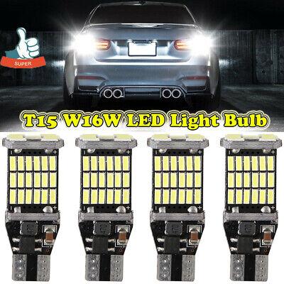 4 x 912 921 T15 W16W Super Bright White Canbus LED Bulb Car Backup Reverse Light