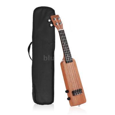 """ammoon 21"""" Okoume Solid Wood Body Electric Ukulele Ukelele Uke with Bag W5C8"""