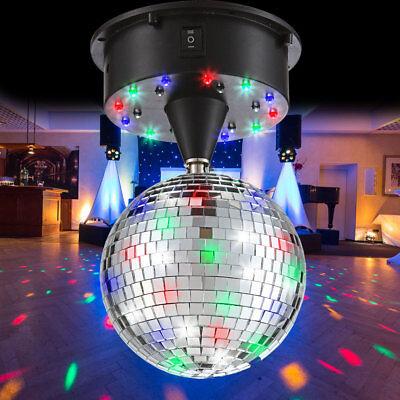 LED Spiegel Kugel 13 cm Discokugel Party Beleuchtung Schalter Disco Lichter Bunt