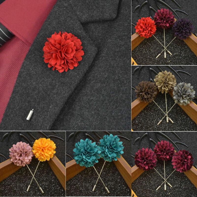 1 Dozen, Style 8 Landisun Handmade Mens Flower Lapel Pin Boutonniere for Suits