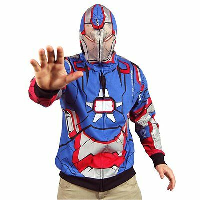 IRON MAN 3 Halloween Costume PATRIOT HOODED JACKET M MARVEL MOVIE Hoodie NEW