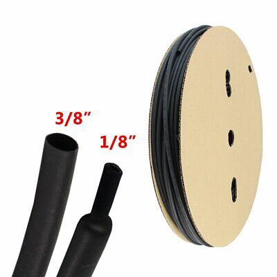 Heat Shrink Tubing 38 Black 31 Polyolefin Sleeve 144inch Cable Wrap Protector