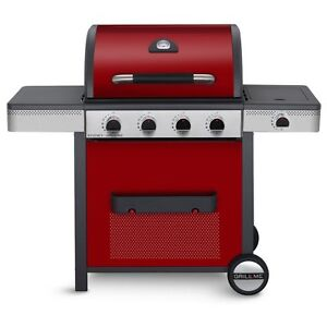 Gas Barbecue 4 Burner Grill Me Sydney With Side Burner Free Delivery Red