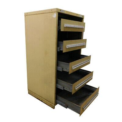 Stanley Vidmar Tan 5-modified Drawer Cabinet Industrial Storage 30 X 28 X 59
