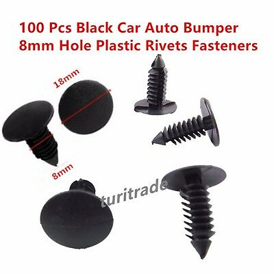 - Black Nylon Xmas Tree Barbed Type Clips Retainers Qty 100 Pcs Part # 1605396