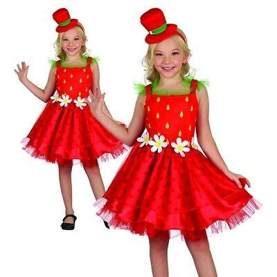 Mädchen Erdbeere Kiss Kostüm Frucht Kostüm Outfit Buch - Erdbeer Outfits