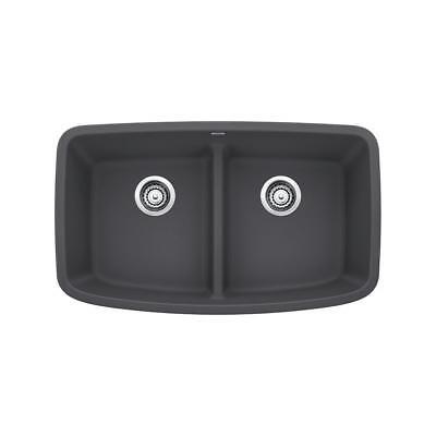 (Blanco VALEA Undermount Granite Composite 32 in. Equal Double Bowl Kitchen Sink )