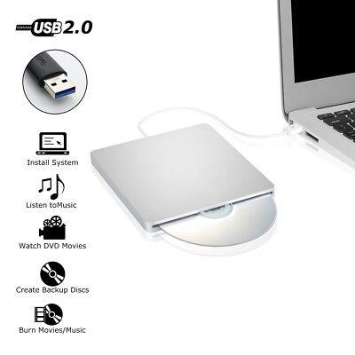 USB External Slot in DVD CD Drive Burner Reader Writer for Laptop Macbook iMac