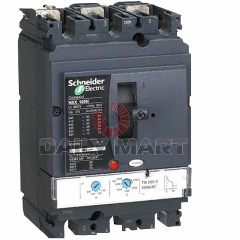 Brand New Schneider Electric LV432707 LV4 Bolt On Molded Case Circuit Breakers
