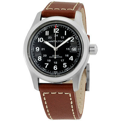 Hamilton Men's HML H70455533 Khaki Field Black Dial Watch