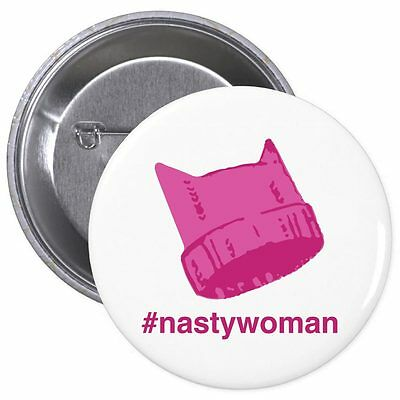 Pink Pussyhat Nasty Woman Million Woman March Button 10  To Planned Parenthood