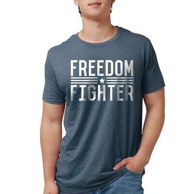 CafePress Freedom Fighter Women's Dark T Shirt Mens Tri-Blend (238895822)