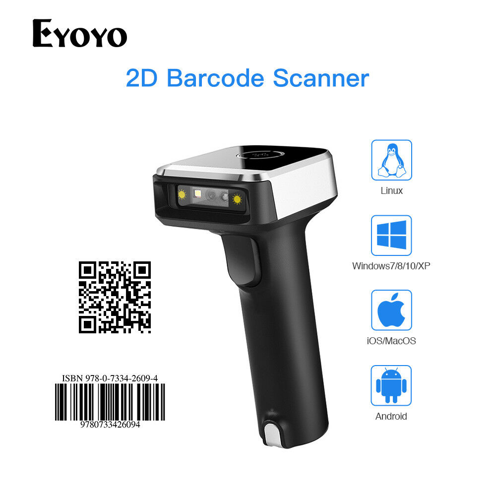 Details about Eyoyo 1D & 2D Wired & 2.4G Wireless Bluetooth Barcode on