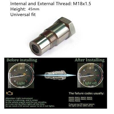 Car CEL Fix Check Engine Light Eliminator Adapter Oxygen O2 Sensor M18X1.5mm SS